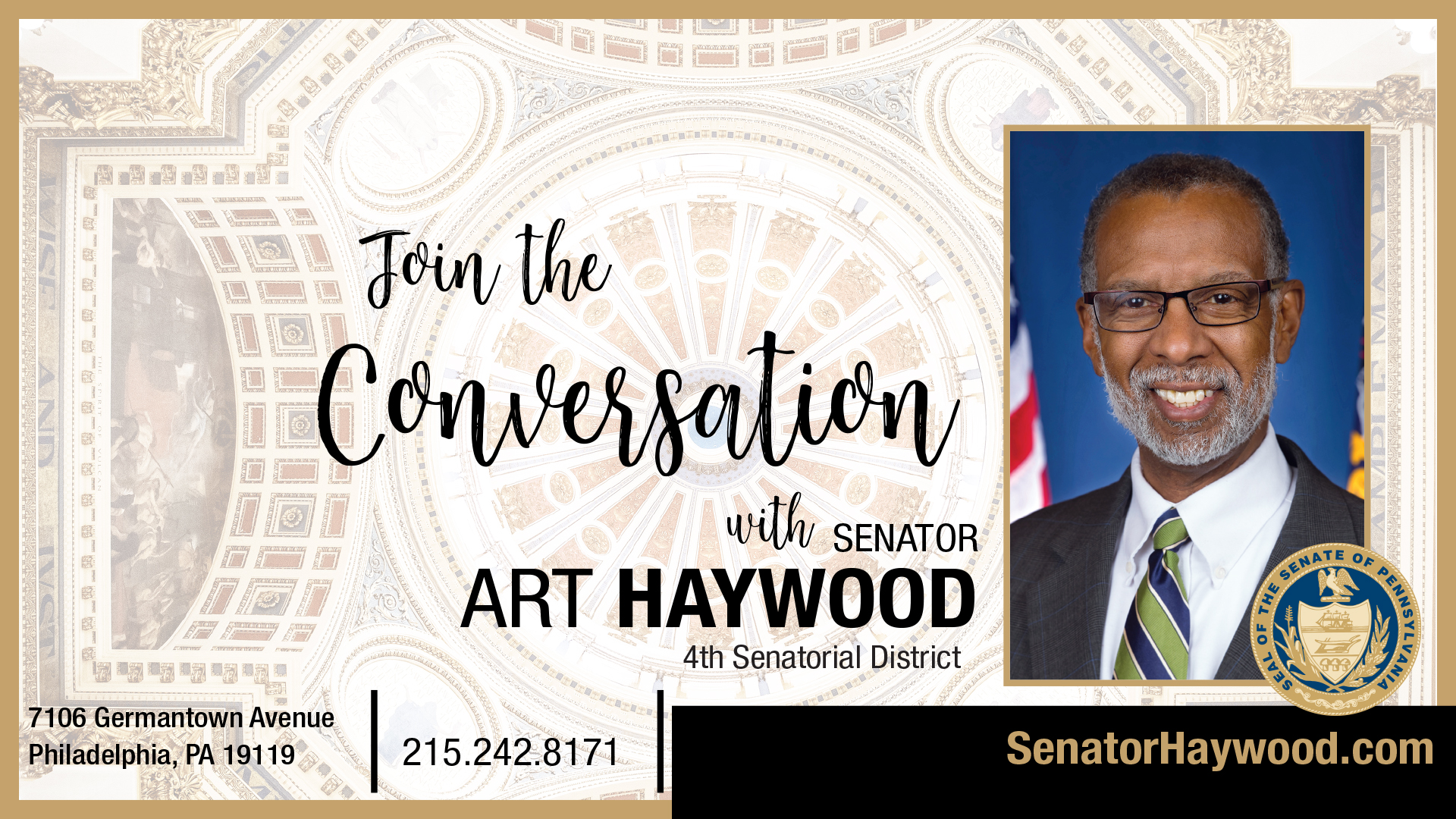 Pennsylvania State Senator Art Haywood