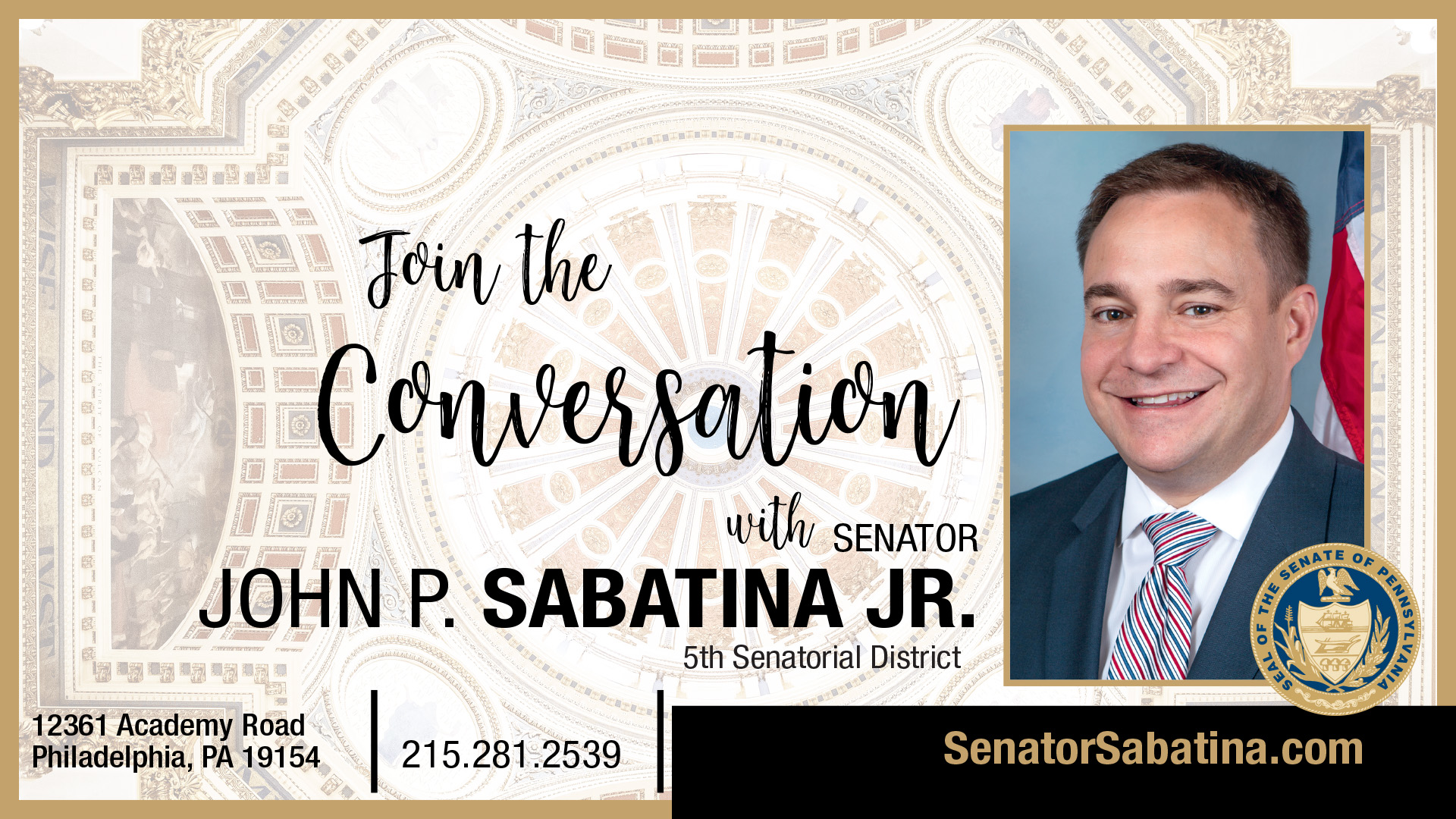 PA State Senator John Sabatina – 5th District