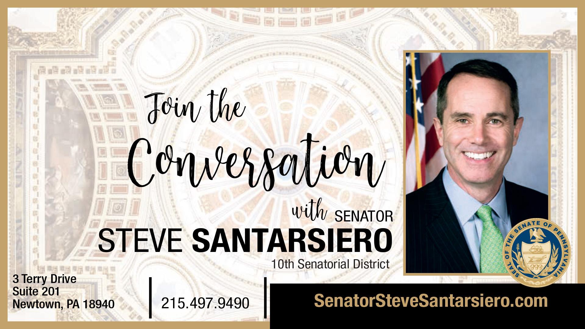 PA State Senator Steve Santarsiero – 10th District