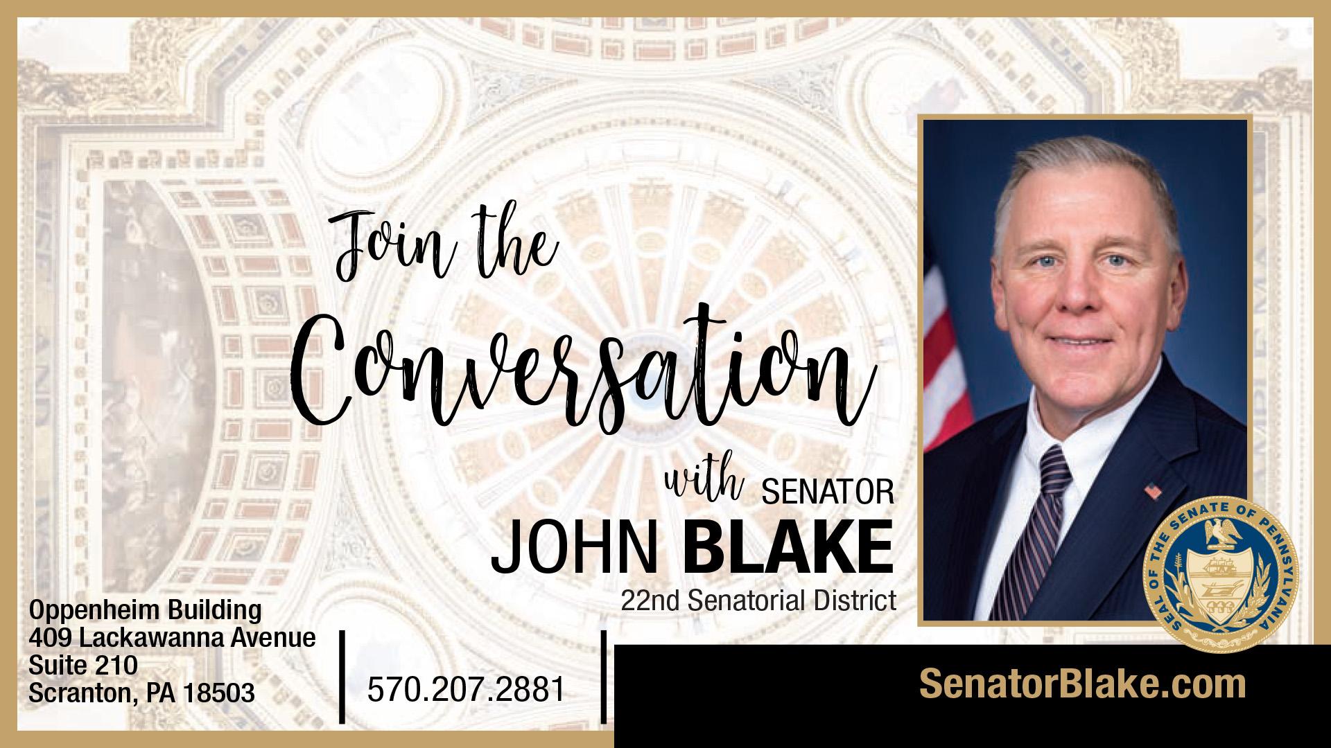PA State Senator John Blake