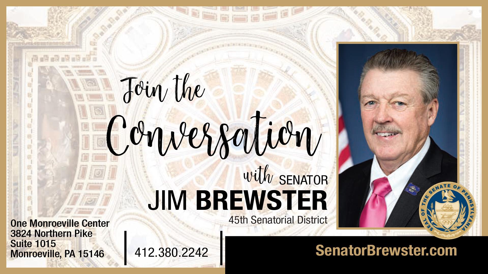 PA State Senator Jim Brewster