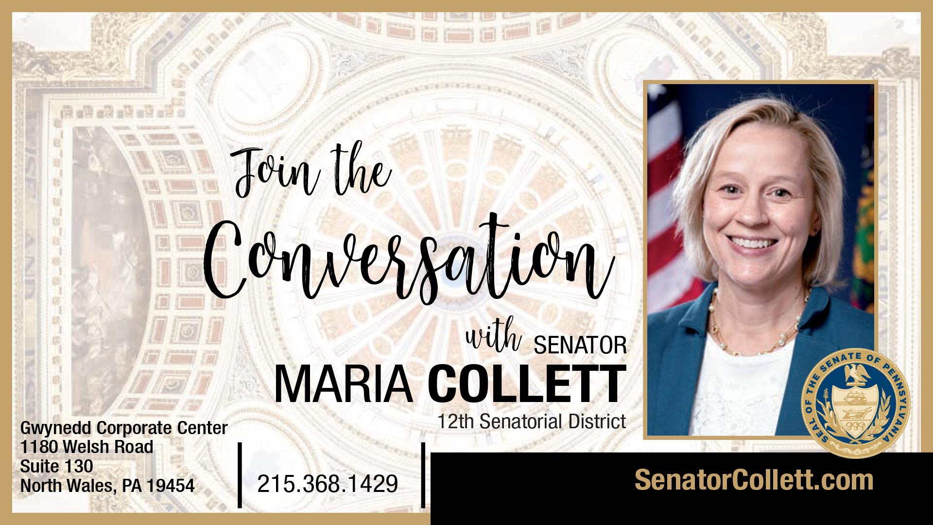PA State Senator Maria Collett