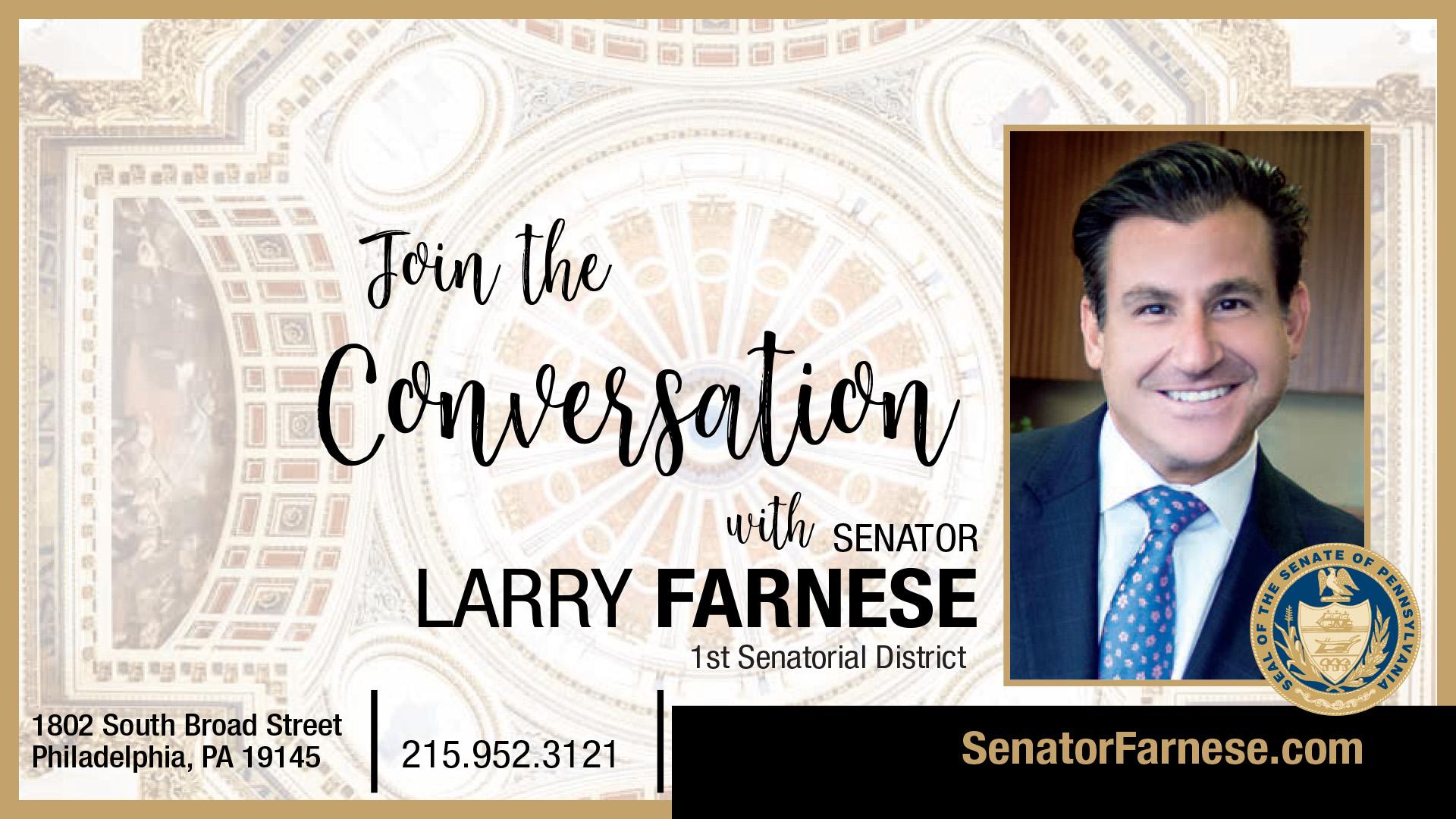 PA State Senator Larry Farnese