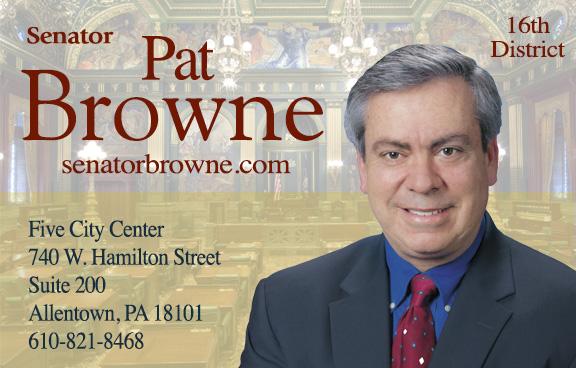 Pennsylvania State Senator Pat Browne