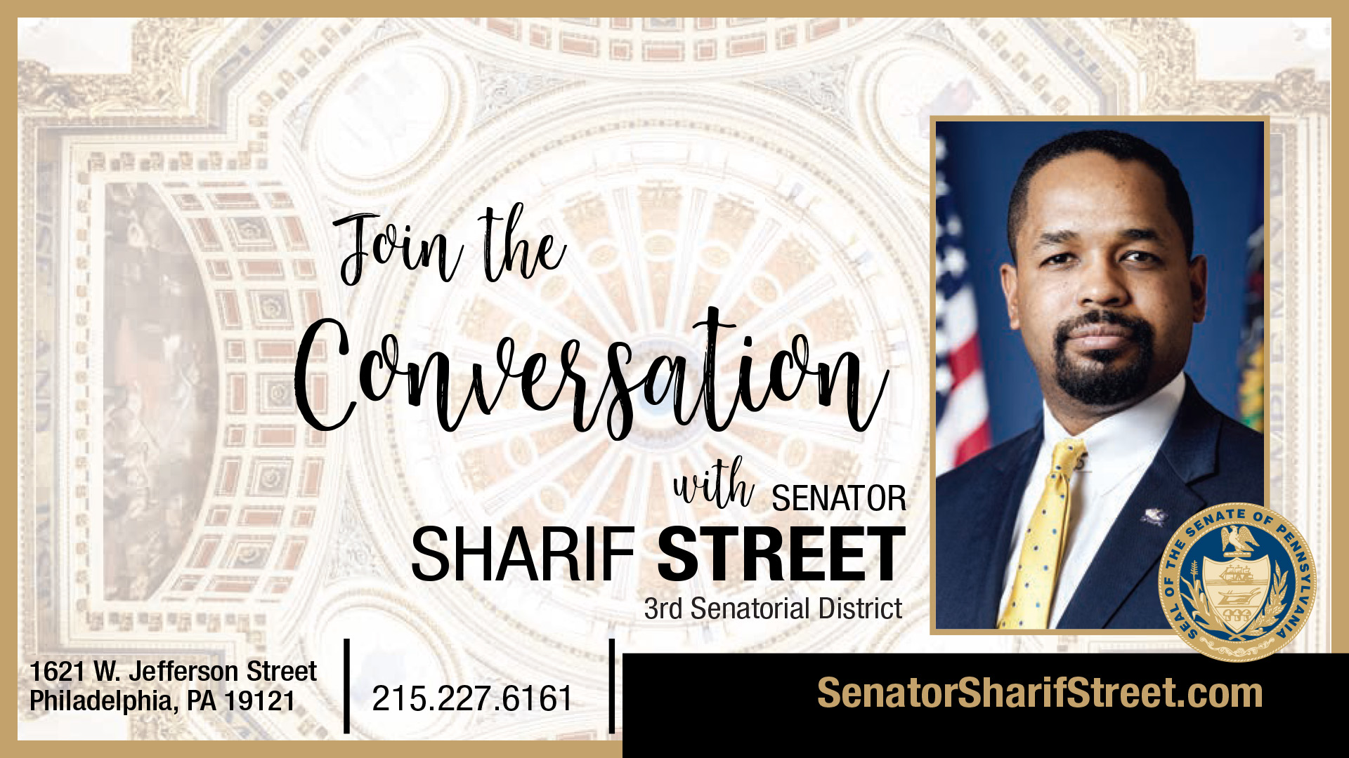 PA State Senator Sharif Street