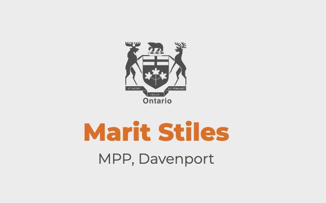 Marit Stiles, MPP Davenport